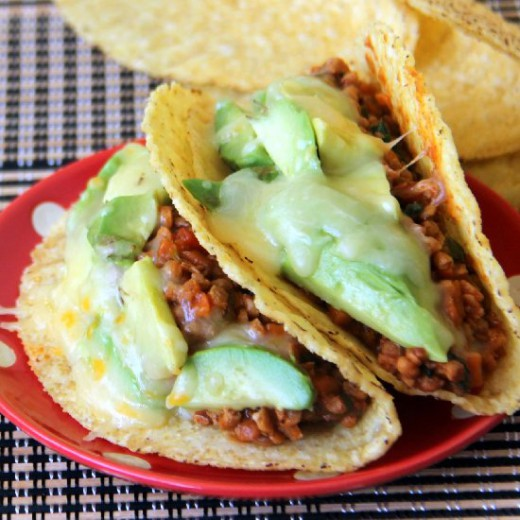 Tacos with soya chunks