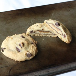 Tagalong Stuffed Cookies