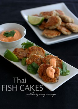 Thai Fish Cakes with Sriracha Mayo Recipe