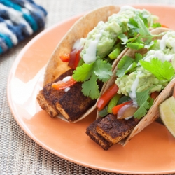 Tofu Fajitas with Guacamole and Whole Wheat Tortillas Recipe