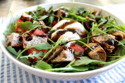 Tomato and Burrata Panzanella Salad Recipe