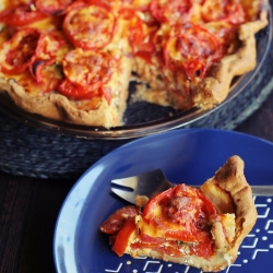 Tomato Cheddar Pie Recipe