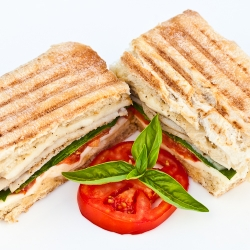 Turkey Panini with Spinach