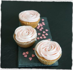 Vanilla Cupcakes with Raspberry Cream Cheese Frosting Recipe