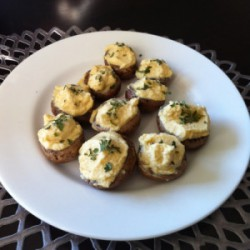Vegan Tahini Cashew Stuffed Mushrooms Recipe