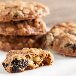 White Choc Cherry Oatmeal Cookies