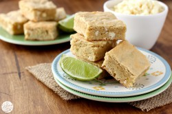 White Chocolate Lime Blondies Recipe