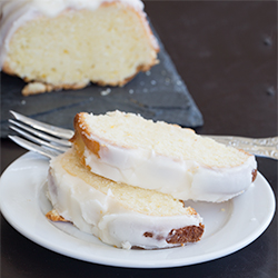 White chocolate-orange pound cake