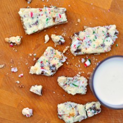 White Christmas crunch squares
