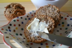 Whole Grain Banana Date Flax Muffins Recipe