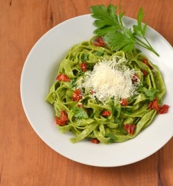 Whole Wheat Spinach Pasta