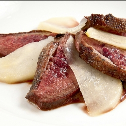 Wild Goose Breast with Pears