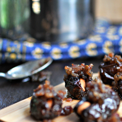 Almond-Stuffed Medjool Dates with Bourbon Bacon Jam