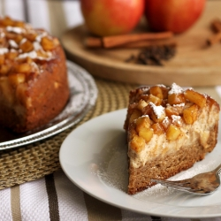 Apple Cream Cheese Coffee Cake