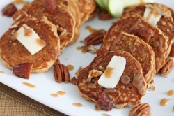 Apple Date Pecan Pancakes with Date Syrup Recipe