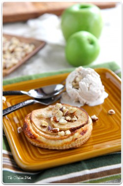 Apple Tarts with Cinnamon Ice Cream