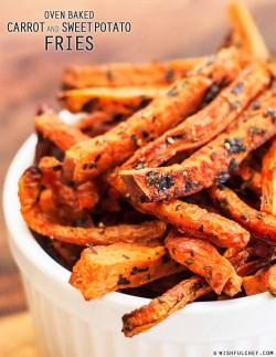 Baked Carrot and Sweet Potato Fries Recipe
