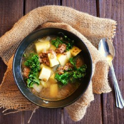 Beef and Spouted Lentil Soup