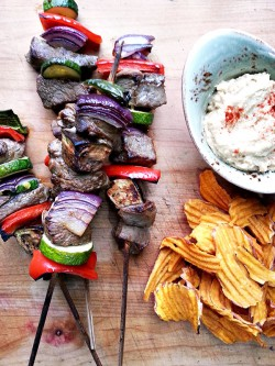 Beef Kebabs with Hummus Recipe