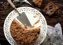 Blackberry Hazelnut Streusel Cake