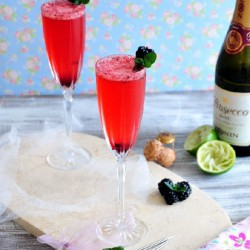 Blackberry Lime Mimosa