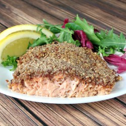 Bourbon Pecan Crusted Salmon