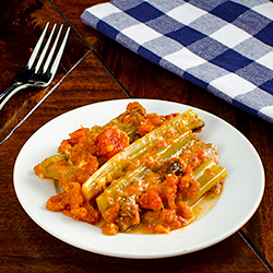 Braised Celery with Tomato and Parmesan