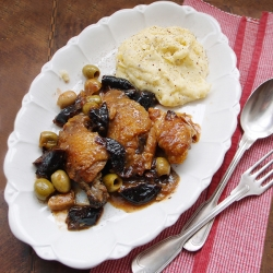 Braised Chicken with Prunes and Olives Recipe