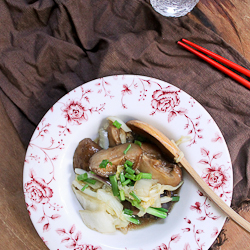 Braised Mushrooms with Chinese Cabbage Recipe