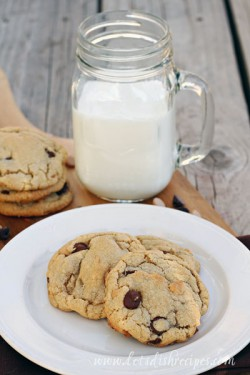 Browned Butter Peanut Butter Chocolate Chip Cookies Recipe