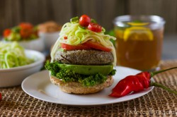 Bulgur and Lentil Vegan Burger