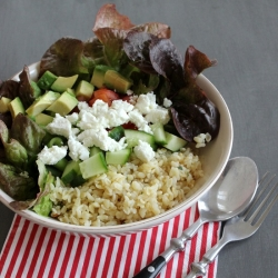 Bulgur Salad with Avocado Tomatoes and Feta Recipe