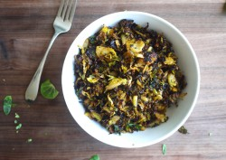 Burnt Maple Brussels Sprouts