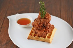 Buttermilk Fried Chicken and Waffles Recipe