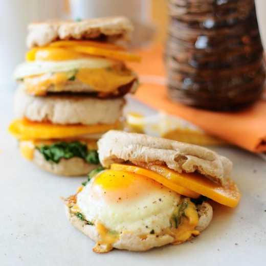 Butternut McMuffins with Kale