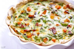 Butternut Squash Arugula Quiche Recipe