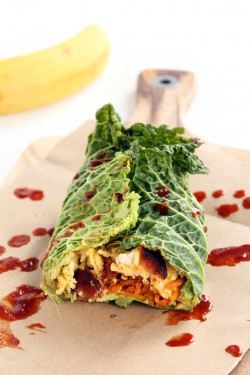Cabbage Breakfast Burrito