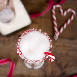 Candy Cane Icecream Float