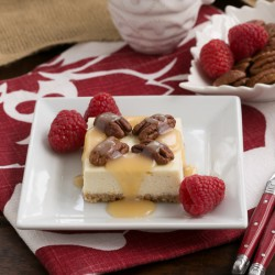 Caramel Pecan Cheesecake Bars Recipe