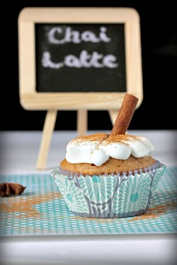 Chai Latte Stuffed Cupcakes