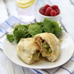 Cheesy Ham and Broccoli Calzone