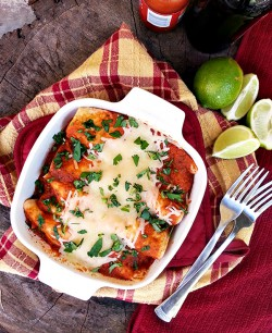 Chicken Enchiladas with Salsa Roja Recipe