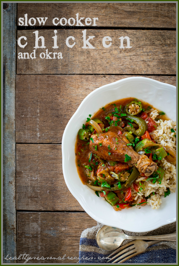 Chicken Okra Stew Slow Cooker Recipe