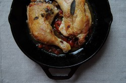 Chicken Under a Brick with Pickled Peppers Recipe