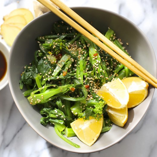 Chinese Broccoli Salad with Sesame Citrus Dressing Recipe