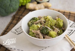 Chinese Pork Tenderloin with Romanesco and Broccoli Recipe