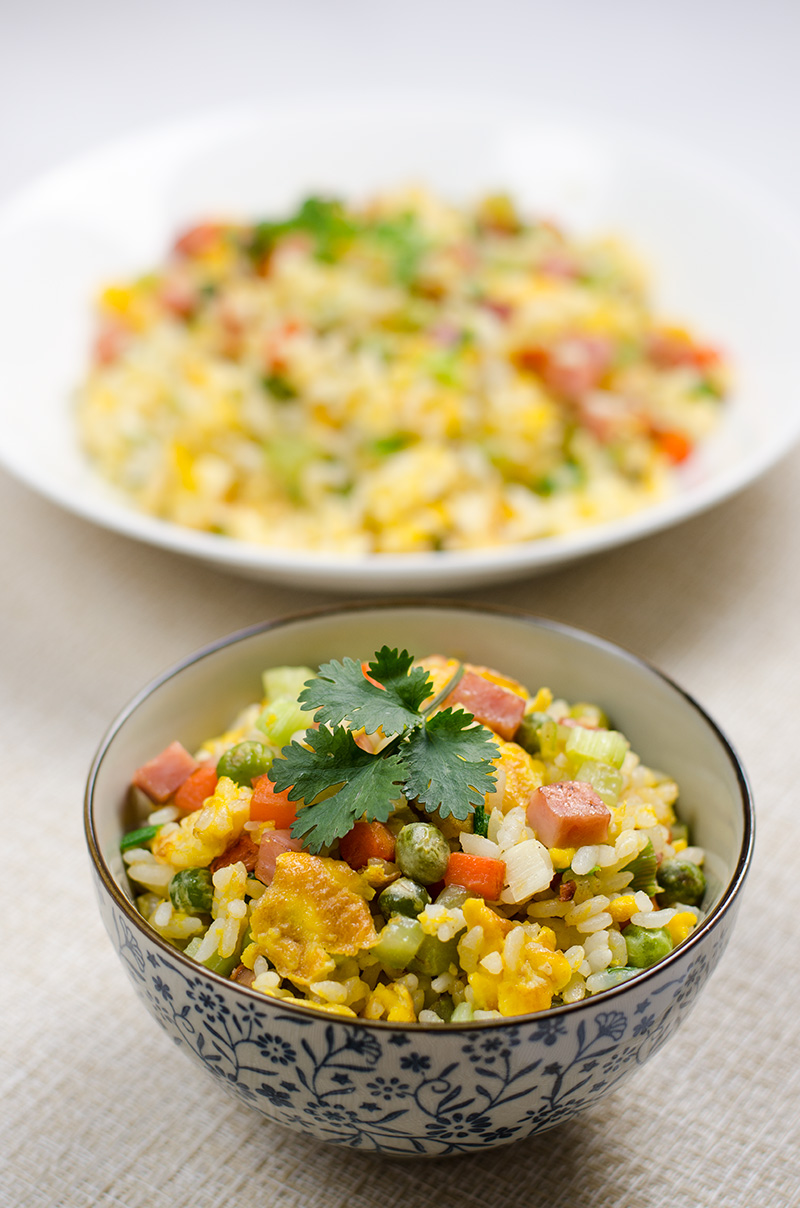 Chinese Vegetables Egg and Ham Fried Rice