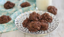 Chocolate Amaretto Fudge Cookies