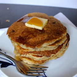 Chocolate Chip Banana Whole Wheat Pancakes Recipe