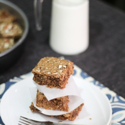 Chocolate Coffee Almond Blondies